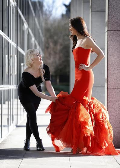 Maria, Red Dress & Miss Ireland - Launch